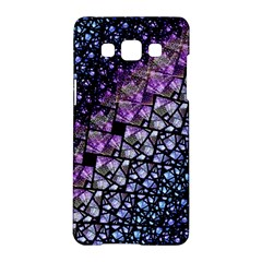 Dusk Blue And Purple Fractal Samsung Galaxy A5 Hardshell Case