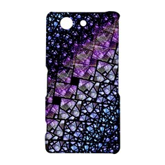 Dusk Blue and Purple Fractal Sony Xperia Z3 Compact Hardshell Case