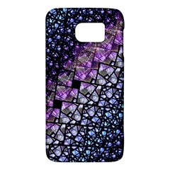Dusk Blue And Purple Fractal Samsung Galaxy S6 Hardshell Case