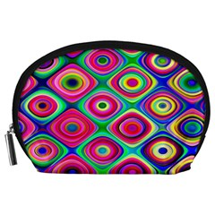 Psychedelic Checker Board Accessory Pouch (large)