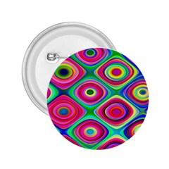 Psychedelic Checker Board 2 25  Button