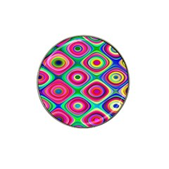 Psychedelic Checker Board Golf Ball Marker (for Hat Clip)