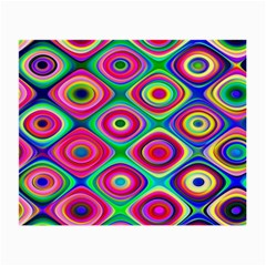 Psychedelic Checker Board Glasses Cloth (small, Two Sided)