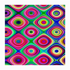 Psychedelic Checker Board Glasses Cloth (medium, Two Sided)