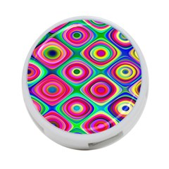 Psychedelic Checker Board 4 Port Usb Hub (two Sides)