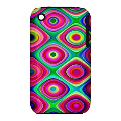 Psychedelic Checker Board Apple iPhone 3G/3GS Hardshell Case (PC+Silicone)