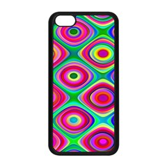 Psychedelic Checker Board Apple Iphone 5c Seamless Case (black)