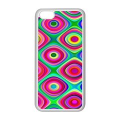 Psychedelic Checker Board Apple Iphone 5c Seamless Case (white)