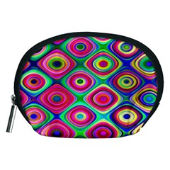 Psychedelic Checker Board Accessory Pouch (medium)