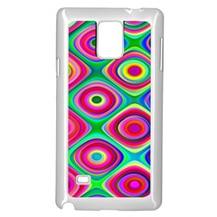 Psychedelic Checker Board Samsung Galaxy Note 4 Case (White)