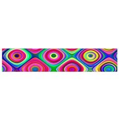 Psychedelic Checker Board Flano Scarf (Small)