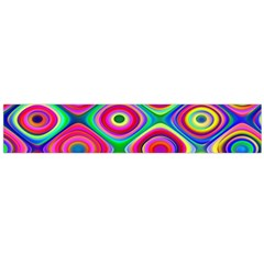 Psychedelic Checker Board Flano Scarf (Large)
