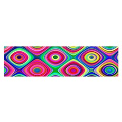 Psychedelic Checker Board Satin Scarf (Oblong)