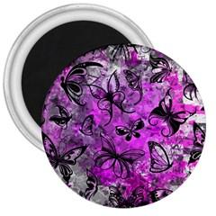 Butterfly Graffiti 3  Button Magnet