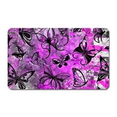 Butterfly Graffiti Magnet (rectangular)