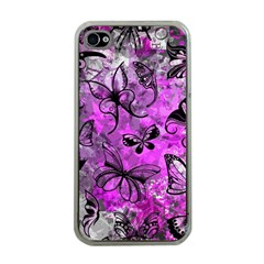 Butterfly Graffiti Apple Iphone 4 Case (clear)