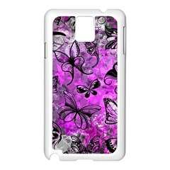 Butterfly Graffiti Samsung Galaxy Note 3 N9005 Case (white)