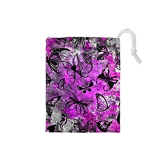Butterfly Graffiti Drawstring Pouch (Small)