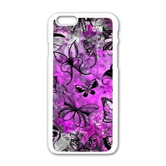 Butterfly Graffiti Apple Iphone 6 White Enamel Case