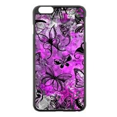 Butterfly Graffiti Apple iPhone 6 Plus Black Enamel Case