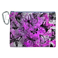 Butterfly Graffiti Canvas Cosmetic Bag (XXL)