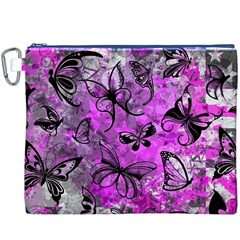 Butterfly Graffiti Canvas Cosmetic Bag (XXXL)