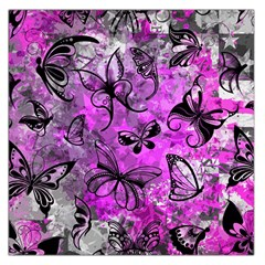 Butterfly Graffiti Large Satin Scarf (Square)