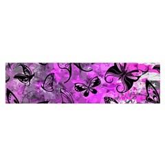Butterfly Graffiti Satin Scarf (Oblong)