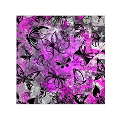 Butterfly Graffiti Small Satin Scarf (Square)