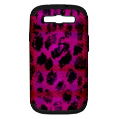 Pink Leopard Samsung Galaxy S Iii Hardshell Case (pc+silicone)