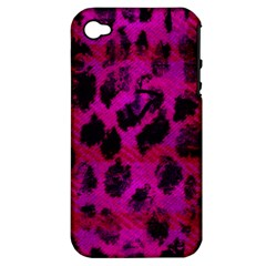 Pink Leopard Apple Iphone 4/4s Hardshell Case (pc+silicone)