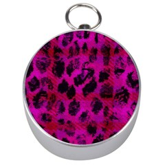Pink Leopard Silver Compass