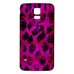 Pink Leopard Samsung Galaxy S5 Back Case (White)