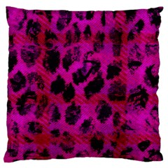 Pink Leopard Standard Flano Cushion Case (one Side)