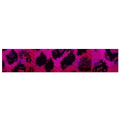 Pink Leopard Flano Scarf (small)