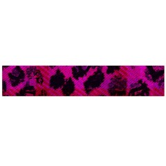 Pink Leopard Flano Scarf (Large)