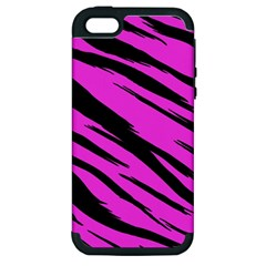 Pink Tiger Apple Iphone 5 Hardshell Case (pc+silicone)
