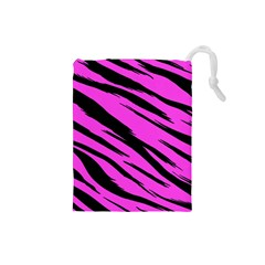 Pink Tiger Drawstring Pouch (Small)