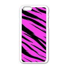 Pink Tiger Apple iPhone 6 White Enamel Case