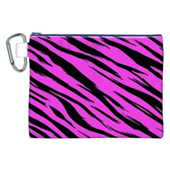 Pink Tiger Canvas Cosmetic Bag (xxl)
