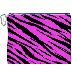 Pink Tiger Canvas Cosmetic Bag (XXXL)