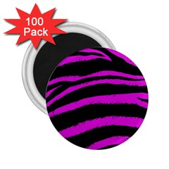 Pink Zebra 2 25  Button Magnet (100 Pack)