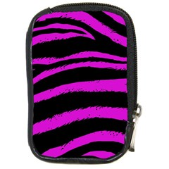 Pink Zebra Compact Camera Leather Case
