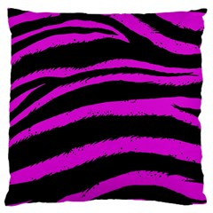 Pink Zebra Large Cushion Case (two Sided)