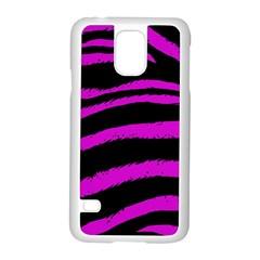 Pink Zebra Samsung Galaxy S5 Case (White)