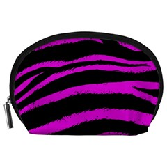 Pink Zebra Accessory Pouch (Large)