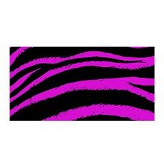 Pink Zebra Satin Wrap