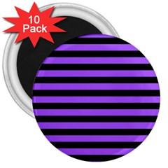 Purple Stripes 3  Button Magnet (10 Pack)