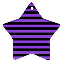 Purple Stripes Star Ornament (two Sides)