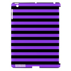 Purple Stripes Apple Ipad 3/4 Hardshell Case (compatible With Smart Cover)